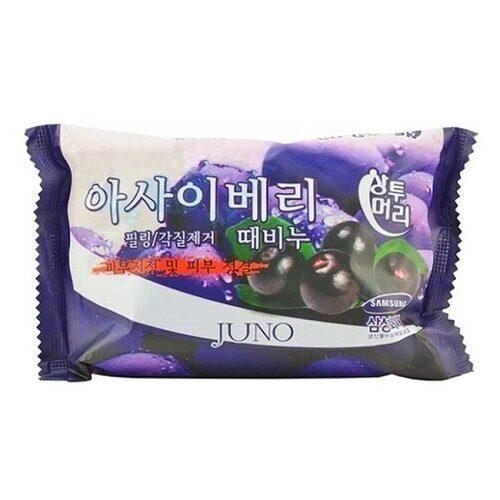 Juno Пилинг - мыло с ягодами асаи Acai Berry Peeling Soap / 150 гр.