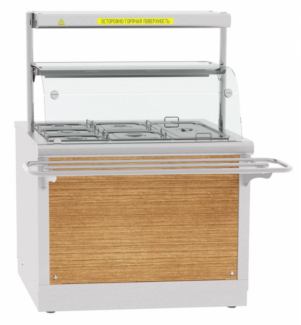 Электрический мармит кухонный Abat ЭМК-70Х с подогреваемой полкой