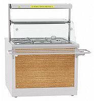 Электрический мармит кухонный Abat ЭМК-70Х с подогреваемой полкой, фото 1