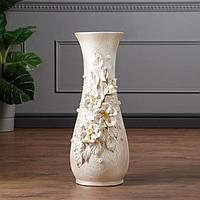 """Ваза напольная """"Осень"""" лепка, хризантема, 57 см, микс, керамика"""