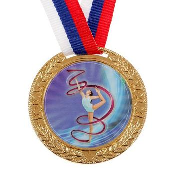Медаль тематическая «Художественная гимнастика», золото, d=5 см