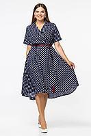 Женское летнее шифоновое синее платье Vita 2-007VT-1-0 46р.