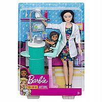 Mattel Barbie Любимая профессия дантист брюнетка