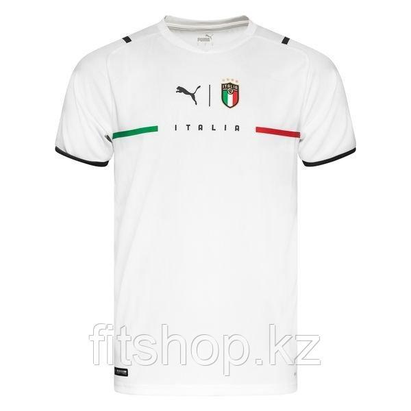 Сборная Италия футболка игровая ЕВРО 2020 гостевая белая,синяя