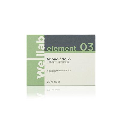 Напиток с Чагой для поднятия иммунитета Welllab Element Chaga Immunity Drink, 25 порций