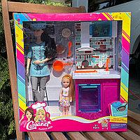 Набор Барби повар с дочкой и кухонными аксессуарами