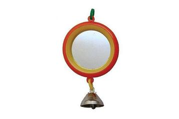 Зеркало для попугая с колокольчиком