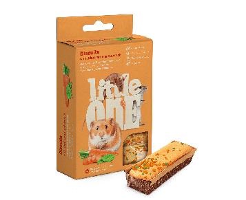 Лакомство для грызунов Little One Бисквиты с морковью
