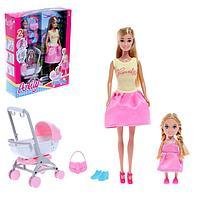 Кукла-модель «Анлилу» с малышом, коляской и аксессуарами