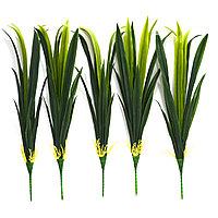 Искусственная гелевая трава для декора с регулирующей длиной 34-58 см (1 пучок)