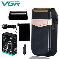 Электрическая бритва для мужчин Voyager V-331расцветка розовое золото и черный