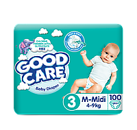 Подгузники GOODCARE Midi №3 (4-9 кг) MEGA, 100шт