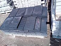 Накрывочный камень 400x250 на забор Чёрный