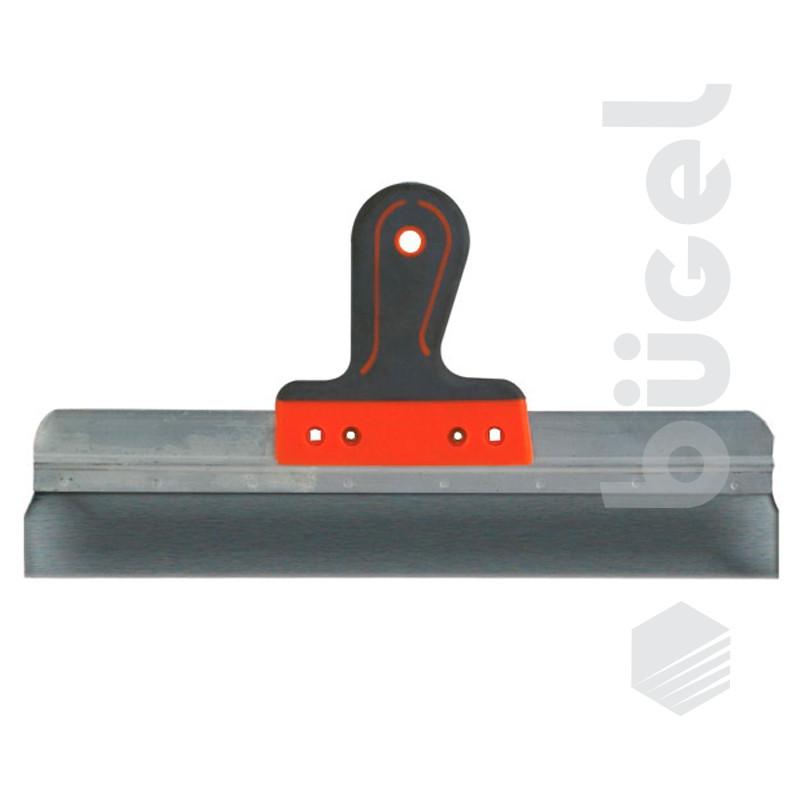 Шпатель фасадный из нержавеющей стали, 200 мм, 2-комп. ручка, широкое полотно