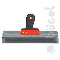 Шпатель фасадный из нержавеющей стали, 350 мм, пластмассовая ручка//СИБРТЕХ