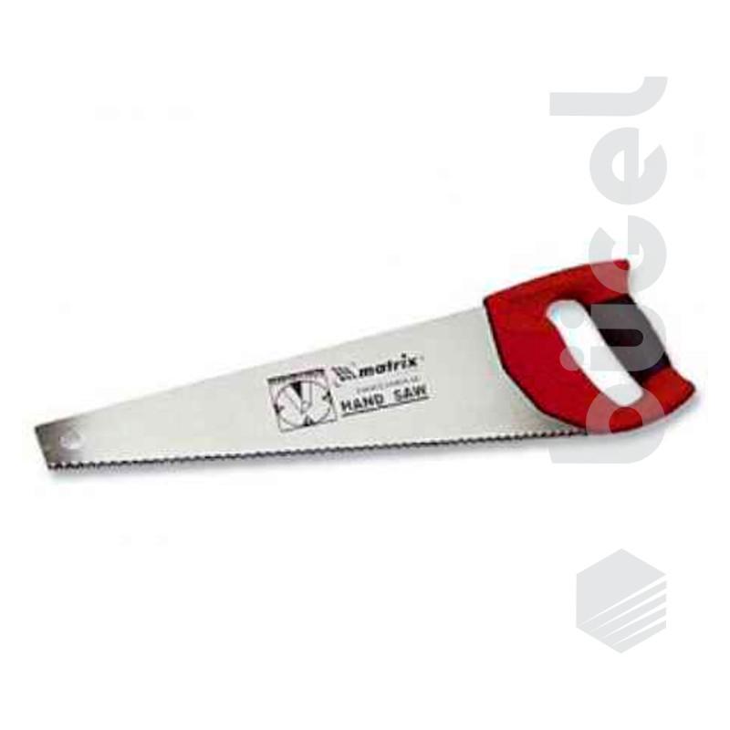 Ножовка по дереву, 500 мм, волновая вырубка,3-4 TPI,зуб 2D,каленый зуб,двухкомп.рук-ка