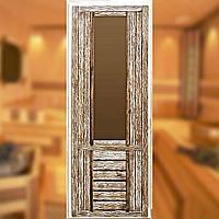Дверь дизайнерская массив остекленная