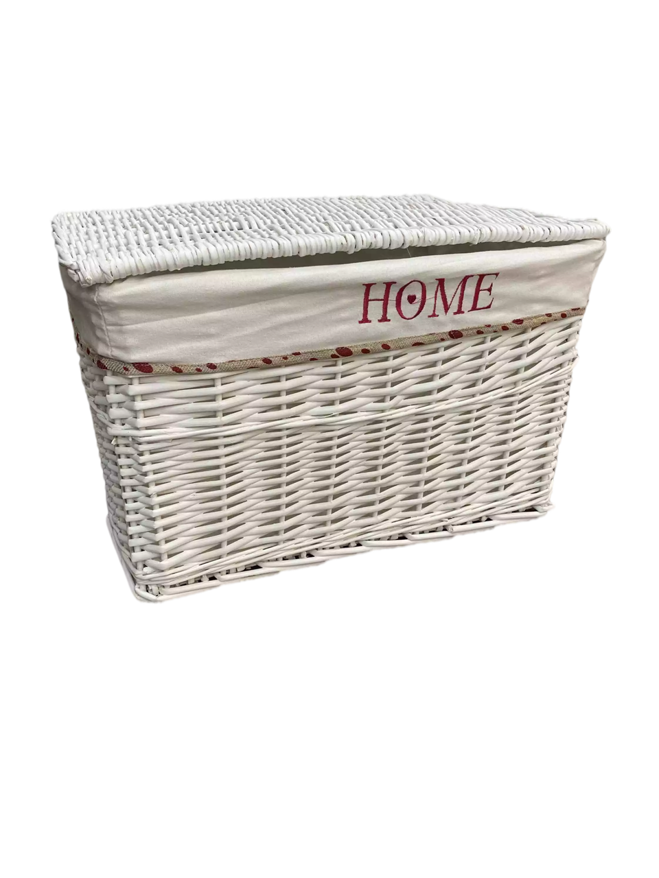 Корзина плетеная Белая прямоугольная Ива L54х38 H 35 см