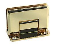 Петля золотая стена-стекло центральное крепление монтажной пластины | FGD-55.1 ZN/TP | Цинк/ Золотая