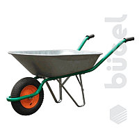 Тачка садово-строительная, усиленная, грузоподъемность 200 кг, объем 90 л.