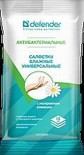 Defender CLN 30330 Салфетки влажные универсальные антибактериальные, 15 шт.