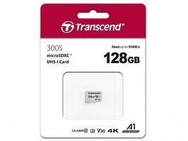 Карта памяти MicroSD 128GB Class 10 U3 Transcend TS128GUSD300S