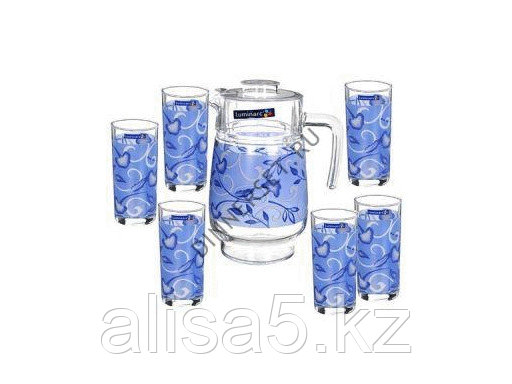 PLENITUDE BLUE набор для напитков 7 предметов, шт