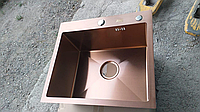 Кухонная мойка ZEUS 50х45 Бронза