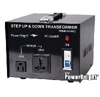 Трансформатор понижающий с 220V/240V на 110V/120V, Мощности W: 50, 100, 200, 500, 1000, 1500, 2000, 3000, 5000