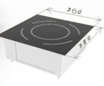 Стекло керамическое для индукционной плиты (360х380х4мм)