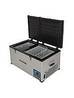 Автохолодильник Kyoda BCDS80, двухкамерный, объем 80 л, вес 30 кг.