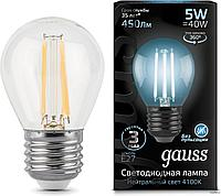 Лампа Gauss Filament 5W E27 4100K