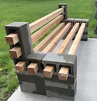 Уличные скамейки в стиле лофт