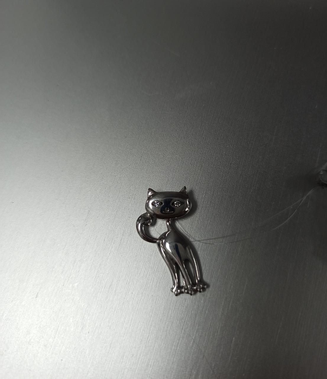 Подвеска кошка. серебро.