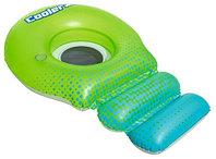 Bestway Пляжный шезлонг для отдыха на воде Super Sprawler 188 х 115 см, BESTWAY, 43138, Винил, Сине-зеленый,