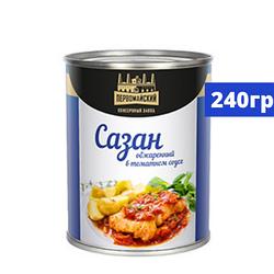 Консервы «Сазан обжаренный в томатном соусе» 250 гр