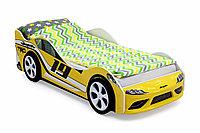 Кровать машинка Супра желтая
