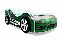 Кровать машина Супра 3D зеленая