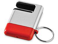 Подставка-брелок для мобильного телефона GoGo, серебристый/красный