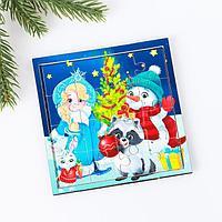 Пазл «Снегурочка с друзьями» 16 деталей