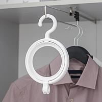 Крючок для одежды и головных уборов многофункциональный, 24×14×2,8 см, цвет белый