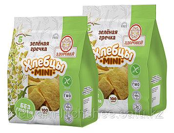 Хлебцы Здоровей Мини зеленая гречка 100 г