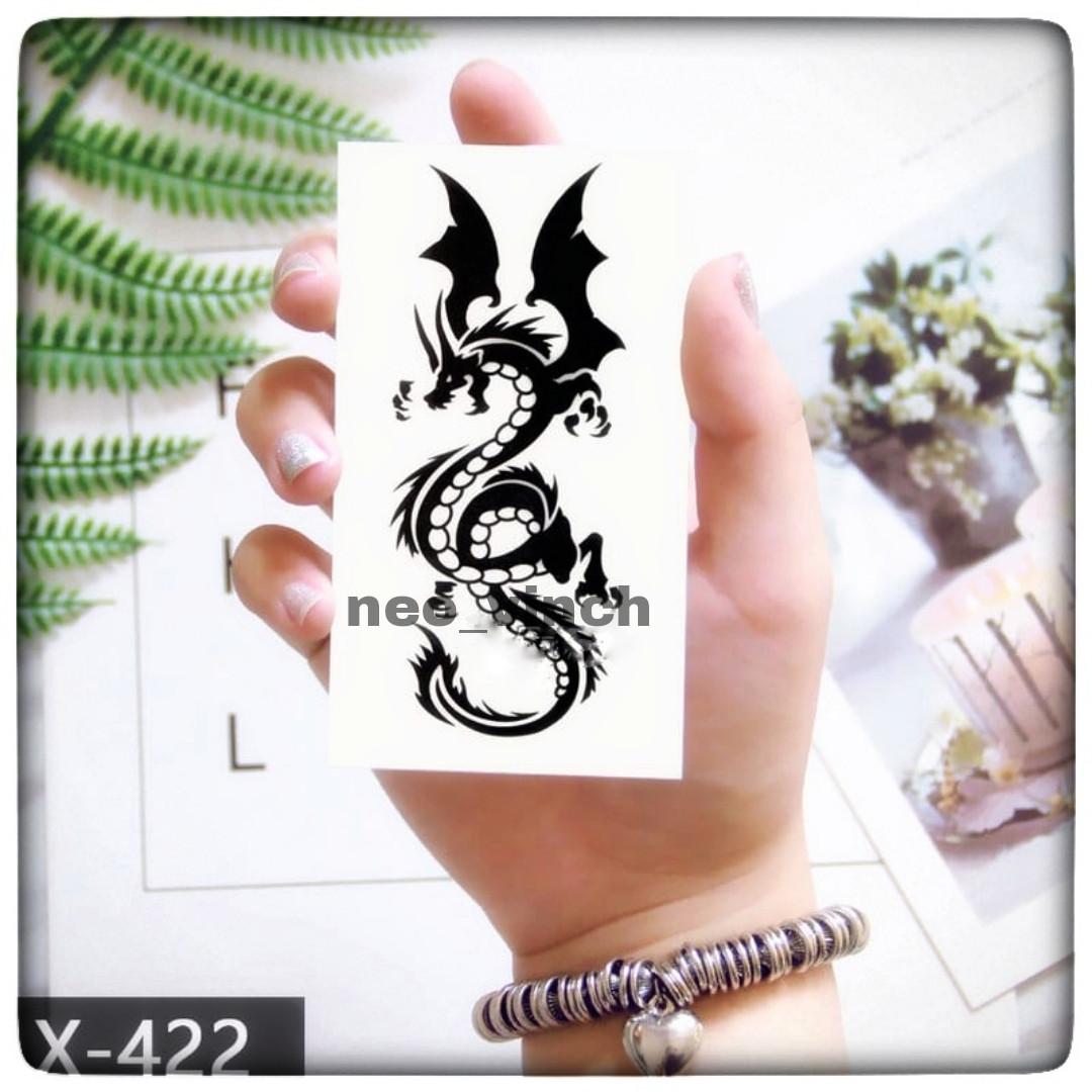 """Водостойкая временная тату- наклейка """"Дракон"""""""