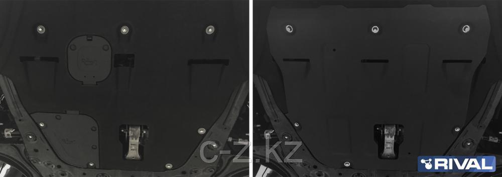 Защита картера + КПП + комплект крепежа, Сталь, KIA K5 2020-, V - 2.0; 2.5, фото 2