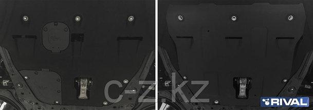Защита картера + КПП + комплект крепежа, Сталь, Hyundai Sonata (DN8) 2019-, V - 2.0; 2.5, фото 2