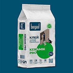 Клей усиленный KERAMIK PRO  для керамической плитки, 5 кг, Bergauf