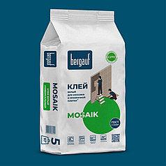 Белый клей MOSAIK для мозаики и прозрачной плитки, 5 кг, Bergauf
