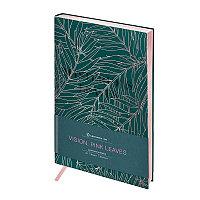 """Записная книжка А5 80л. ЛАЙТ, кожзам, Greenwich Line """"Vision. Pink leaves"""", тон. блок, срез роз.фоль"""
