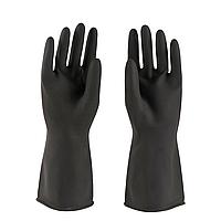 Перчатки резиновые для влажной уборки, черные