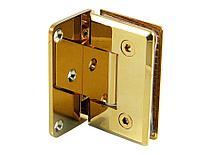 Петля золотая стена-стекло с односторонним креплением | FGD-57.1 ZN/TP | Цинк/ Золотая
